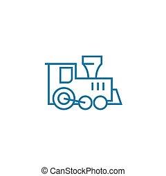 illustration., 印, concept., choo-choos, シンボル, ベクトル, 線, アイコン, 遊び, 線である