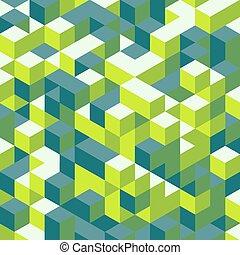 illustration., 壁, 抽象的, バックグラウンド。, ベクトル, cubes., 3d