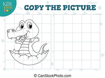 illustration., 幼稚園, ベクトル, 教育, コピー, ゲーム, 映像, 子供