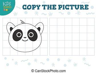 illustration., 幼稚園, ベクトル, 教育, コピー, ゲーム, 映像, kids.