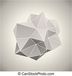 illustration., 形態, 色, 型, 抽象的, ベクトル, 3d