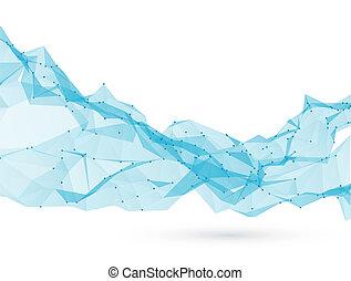 illustration., 抽象的, 三角, poly, バックグラウンド。, ベクトル, 低い
