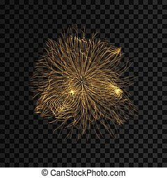 illustration., 抽象的, 動的, particles., バックグラウンド。, ベクトル, 配列, 技術, style., 未来派, 3d