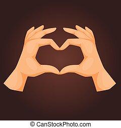 illustration., 指すこと, 人々, コミュニケーション, 腕, ジェスチャー, ベクトル, 人間の術中, メッセージ, deaf-mute, ジェスチャーで表現する