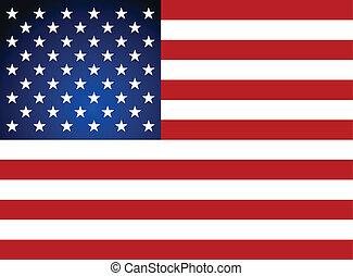 illustration., 旗, day., アメリカ人, ベクトル, 独立
