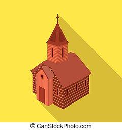 illustration., 正統, コレクション, ベクトル, イラスト, 教会, icon., チャペル, 株