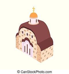 illustration., 正統, シンボル。, イラスト, ベクトル, コレクション, 教会, チャペル, 株
