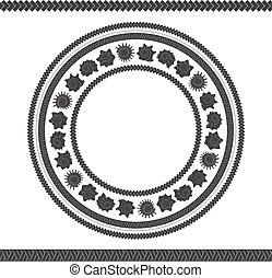 illustration., 殻, パターン, patterns., seamless, ベクトル, polynesian, ラウンド