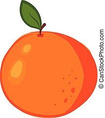 illustration., 色, ∥あるいは∥, ベクトル, オレンジ, 美しい