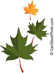 illustration., 色, 葉, ベクトル, 緑, ∥あるいは∥