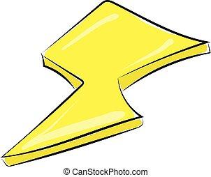illustration., 色, 黄色, ベクトル, 稲光, ∥あるいは∥