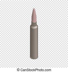 illustration., 銃弾, 等大, カートリッジ, ベクトル, photorealistic