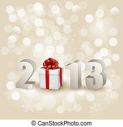 illustration., 2013!, vector, ontwerp, jaar, nieuw,...