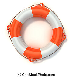 illustration, 3d, lifebuoy