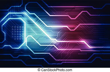 illustration., abstract, achtergrond., vector, plank, circuit, technologie