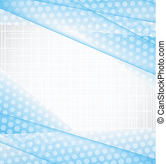 Illustration abstract blue background, halftone design - vector