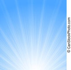 Abstract Blue Background Sun Sunburst