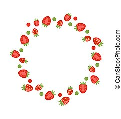 Abstract Frame Made of Strawberry