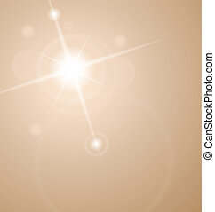 abstract star with lenses flare - Illustration abstract star...