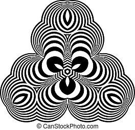 illustration., abstract, vector, ontwerp, optisch, element., art.