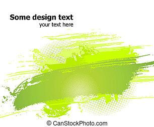illustration., abstract, verf , vector, groene, plonsen