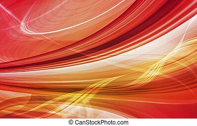 illustration., abstrakt, motion., dynamisk, gul, formar, ...