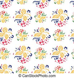 illustration., abstratos, pattern., eps, samless, flowers., vetorial, verde, floral, folhas