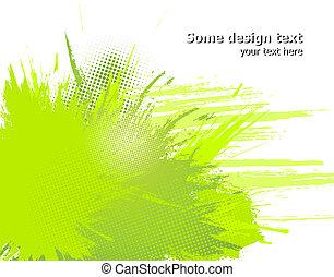 illustration., abstratos, pintura, vetorial, verde,...