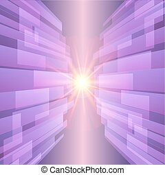 illustration., abstratos, star., vetorial, fundo, violeta, ultra, tecnologia, brilho