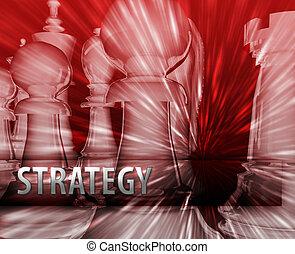 illustration affaires, stratégie