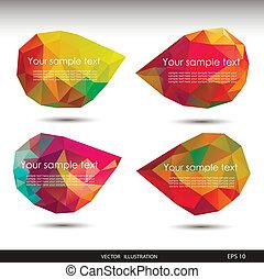 illustration affaires, ton, vecteur, parole, ??????colorful, bulles, website.