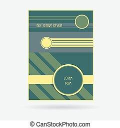 illustration., affari, coperchio, layout., opuscolo, vettore, disegno, relazione, geometrico, template.