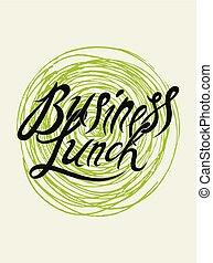 illustration., affari, menu ristorante, calligraphic, pranzo, vettore, vendemmia, design.