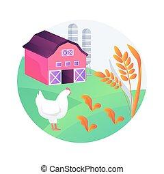 illustration., agriculture, vecteur, soutenable, concept abstrait