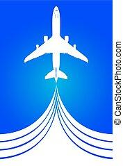 Illustration Air flight - Illustration of air travel, vector...