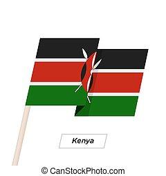 illustration., aislado, bandera ondeante, vector, white.,...