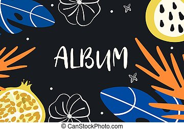 Illustration album cover. Exotic elements