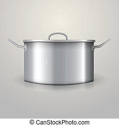 illustration, aluminium, casserole