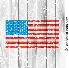 American Grunge Background with Flag