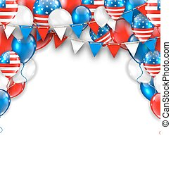 American Traditional Celebration Background for Holidays of...