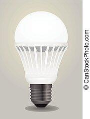 illustration, ampoule, vecteur, mené