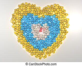 candy heart - Illustration and rendering of candy heart