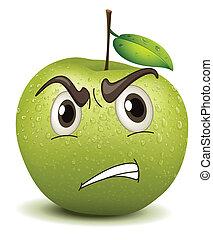 angry apple smiley