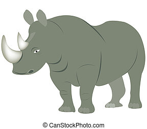 Illustration animal rhinoceros