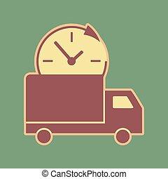 illustration., apr, sinal, entrega, cordovan, vector.,...