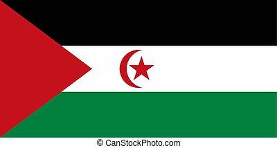 illustration., arabo, bandiera, vettore, republic., sahrawi...