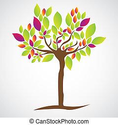 illustration, arbre, simple