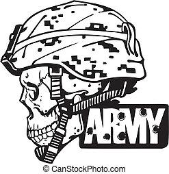 illustration., armia, -, na, wektor, projektować, wojskowy
