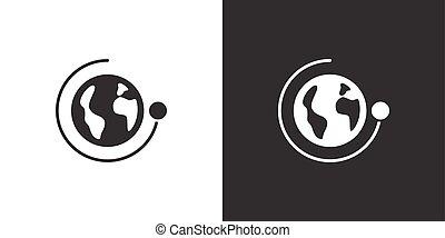 illustration, arrière-plan., autour de, isolé, rotation, ...