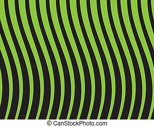 illustration, arrière-plan., vecteur, vert, noir, rayé